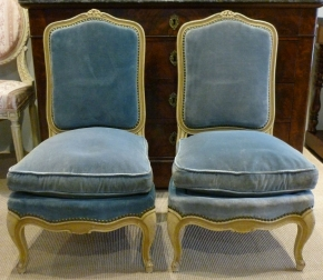 Pretty Pair of 19th Century Low Chairs