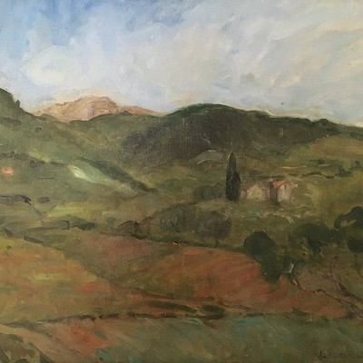Provencal Landscape - Antique Oil Painting