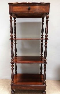 Regency Rosewood Whatnot/Music Stand