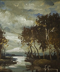 River landscape in Evening Light
