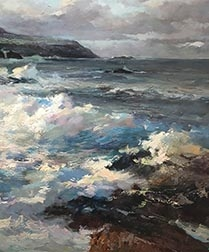 Rough Sea - Antique Oil Painting