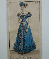 Set of Four Antique Fashion Prints