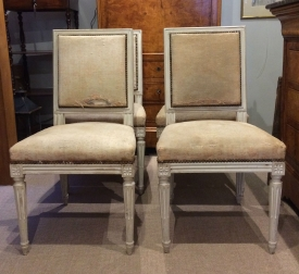 Set of Four French Painted Chairs - 19th Century