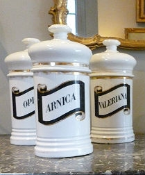 Set of Six 19th Century Pharmacy Jars