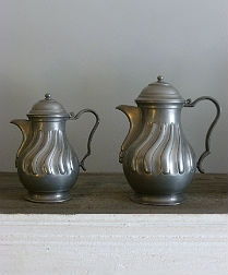 Set of Six Pewter Jars