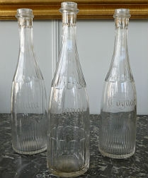 Set of three French Glass Carafes