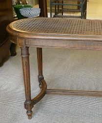 Small French Cane Bench