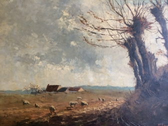 Spring Landscape - Antique Oil Painting