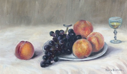 Still Life with Fruit - Antique Oil Painting