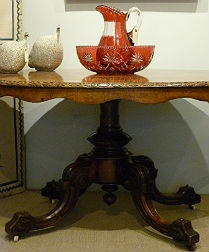 Stunning 19th Century Burr Walnut Loo Table