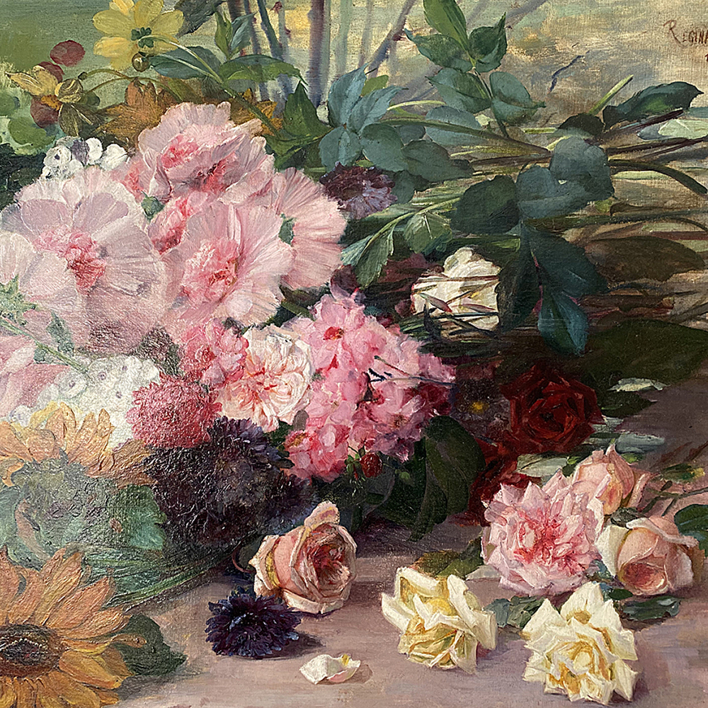 Summer Flowers - Antique Oil Painting