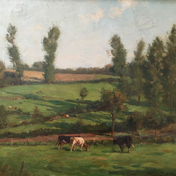 Summer Landscape - Antique Oil Painting