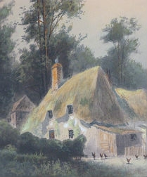 Thatched Farmhouse with Poultry