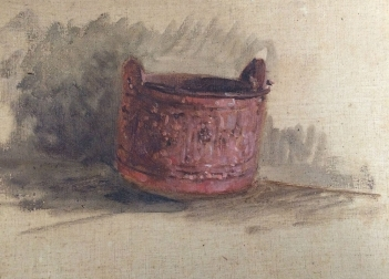 The Bucket - 19th Century Oil Painting