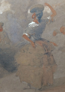 The Dance - 19th Century Watercolour Sketch