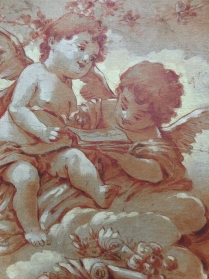 Two Angels - 19th Century Oil Painting