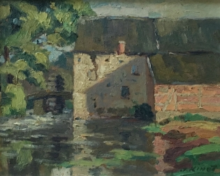 View of aView of a Mill - Oil Painting