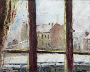 View of Paris in the Snow - Oil Painting