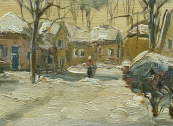 village in the Snow - Dutch Landscape