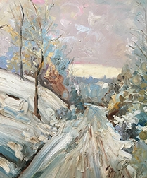 Winter Landscape - Oil Painting