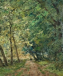 Woodland in Summer - Antique Oil Painting