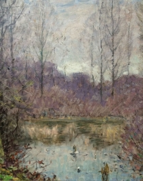 Woodland Lake - Impressionist Oil Painting