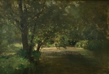 Woodland View - Antique Oil Painting